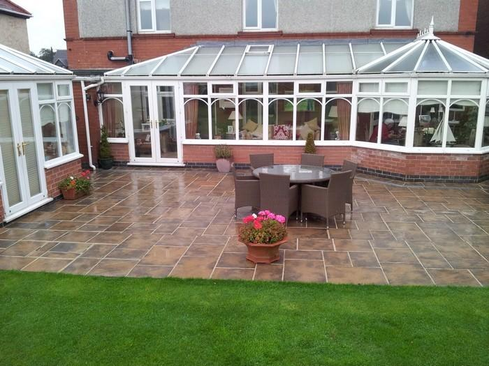patio laying derbyshire